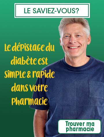 Test dépistage diabète en pharmacie
