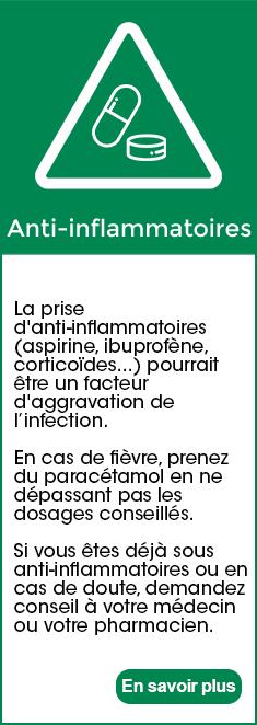 Coronavirus - Anti inflammatoire