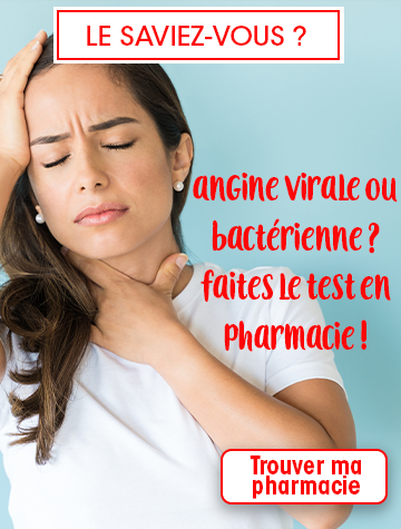 test Dépistage angine pharmacie