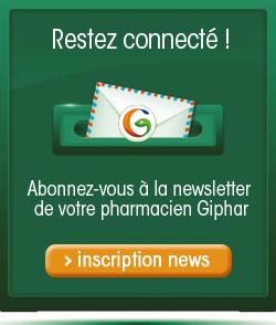 Inscrivez-vous à la newsletter de votre Pharmacien Giphar