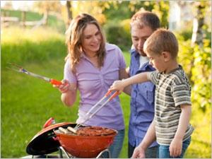 Attention aux brûlures avec le barbecue