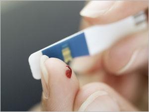 Diabète : test de glycémie