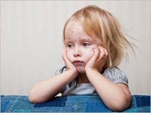 Les symptômes de la rougeole