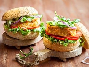 Recette fish burger végétarien