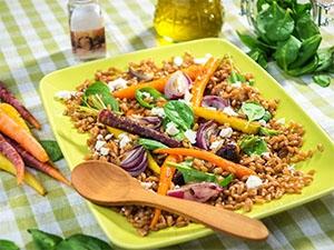 recette Salade de blé aux salsifis, carottes et endives
