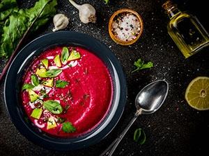 Recette Soupe de betterave et chou kale