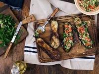 Aubergines farcies à la libanaise au barbecue