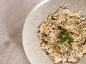 Gratin de risotto champignons et poulet